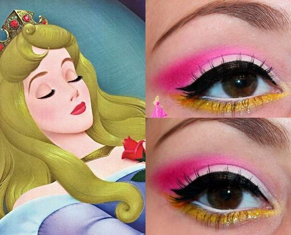 Haloween-makeup-sleeping-beauty-Disney-princesses-eyeshadow