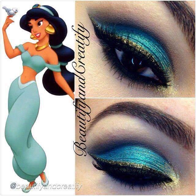 make-princesas-disney-pequena-sereia-pocahontas-branca-neve-rapunzel-jasmine-bela-elsa- (5)