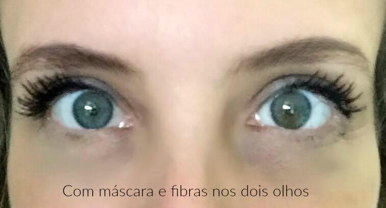 mascara e fibra dois olhos