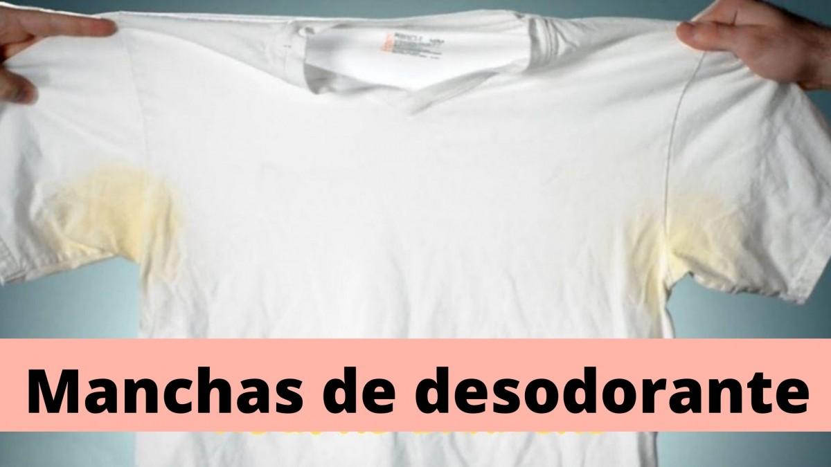 FIM DAS MANCHAS DE DESODORANTE